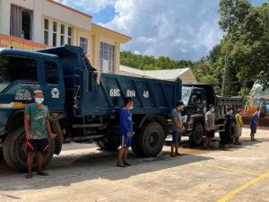 Đưa dàn xe tải trộm cát trong khu du lịch ở Phú Quốc